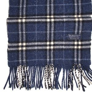 Burberry Scarf Heathered Speckled Cashmere Navy